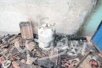 சமையல் எரிவாயுக் கசிவினால் ஏற்பட்ட தீயினால், காத்தான்குடியில் வீடு சேதம்