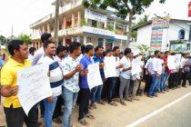 அரச தொழில் கோரி, அம்பாறை மாவட்ட பட்டதாரிகள் ஆர்ப்பாட்டம்