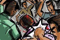 மரண வீட்டில் மோதல்; பெண் உட்பட ஏழு பேர் காயம்