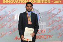 ருஹுணு பல்கலைக்கழக மாணவர் அஜ்மலின் கண்டுபிடிப்புகளுக்கு விருது