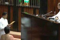 தேசியப்பட்டியல் நாடாளுமன்ற உறுப்பினராக சாந்த பண்டார சத்தியப் பிரமாணம்