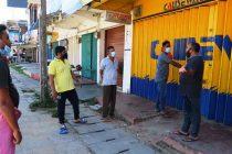 தனிமைப்படுத்தல் சட்டம் அமுலில் உள்ள கல்முனை நகரில், கடைகள் உடைக்கப்பட்டு திருட்டு
