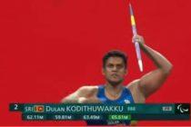 டோக்கியோ பராலிம்பிக் போட்டிகளில் இலங்கைக்கு மற்றொரு பதக்கம்
